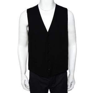 Dolce & Gabbana Black & Beige Cotton Vest XL