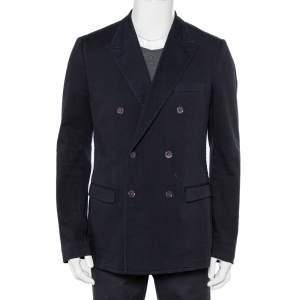 Dolce & Gabbana Navy Blue Denim Double Breasted Blazer XXL