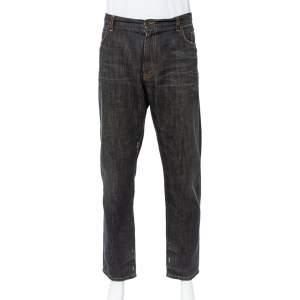 Dolce & Gabbana 22 Green Grey Faded Effect Distressed Denim Jeans XXL