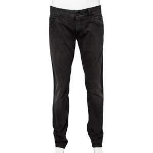 Dolce & Gabbana Charcoal Grey Dark Wash Denim Fit 12 Jeans L