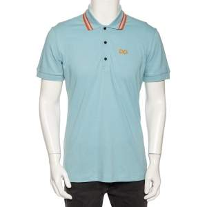 Dolce & Gabbana Light Cotton DG Logo Polo T Shirt L