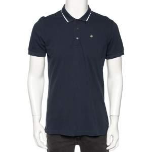 Dolce & Gabbana Navy Blue Cotton Pique Polo T-Shirt XL