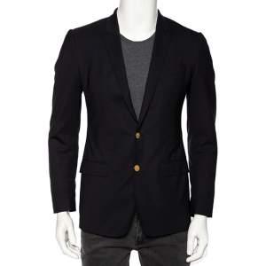 Dolce & Gabbana Midnight Blue Wool Tailored Martini Blazer XS