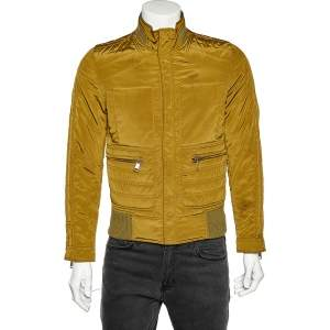 Dolce & Gabbana Olive Green Synthetic Zip Front Jacket XS