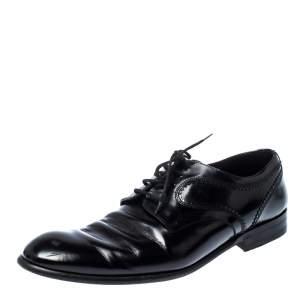 Dolce & Gabbana Black Leather Lace Up Oxfords Size 43