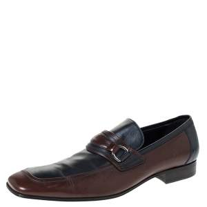 Dolce & Gabbana Two Tone Leather Slip On Loafers Size 42.5