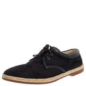 Dolce & Gabbana Blue Suede Leather Espadrille Sneakers Size 41