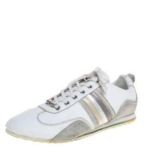 Dolce & Gabbana White Leather Logo Sneakers Size 43.5