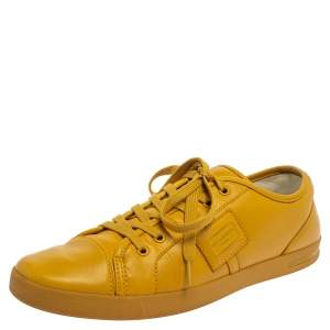 Dolce & Gabbana Yellow Leather Sneakers Size 43