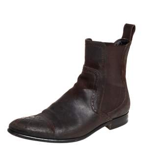 Dolce & Gabbana Brown Suede Chelsea Boots Size 40