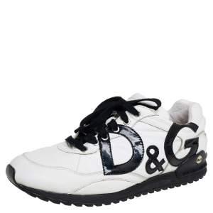 حذاء رياضى دولتشى أند غابانا منخفض جلد أبي