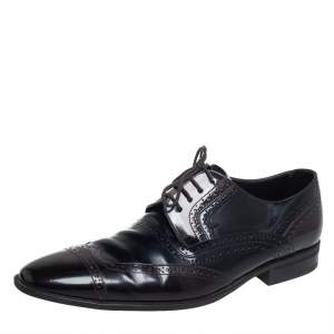 Dolce & Gabbana Two Tone Brogue Leather Lace Up Derby Size 44