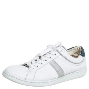 Dolce & Gabbana White Leather Low Top Sneakers Size 41