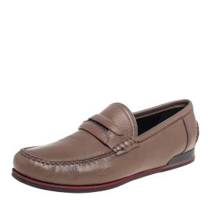 Dolce & Gabbana Brown Leather Slip On  Loafers Size 43