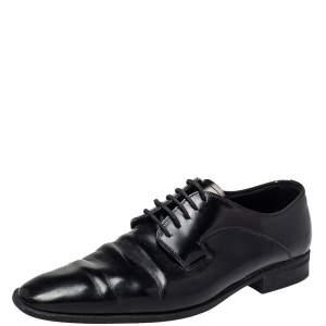 Dolce & Gabbana Black Leather  Lace Up Oxford Size 42