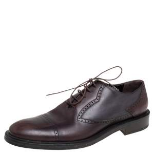 Dolce and Gabbana Brown Leather Oxford Size 43