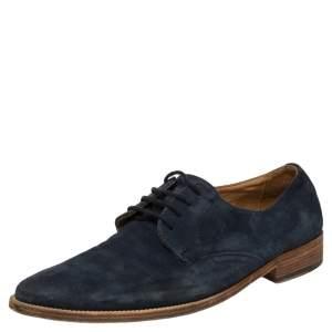 Dolce & Gabbana Blue Suede Oxfords Size 41.5
