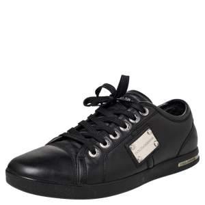 Dolce & Gabbana Black Cap Toe Low Top Sneakers Size 40.5