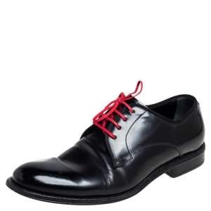 Dolce & Gabbana Black Leather Lac Up  Oxfrod Size 42
