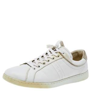 Dolce & Gabbana White Leather Low Top Sneakers Size 43