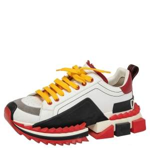 Dolce & Gabbana Multicolored Leather Super King Sneakers Size 42