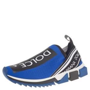 حذاء رياضي دولتشي أند غابانا سورينتو قماش تريكو أزرق سليب أون مقاس 40