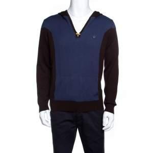 Dsquared2 Colorblock Kangaroo Pocket Detail Hooded Sweater L