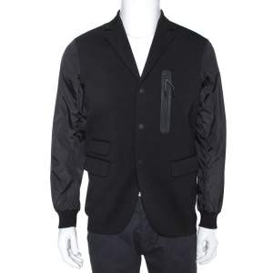 Dsquared Black Wool & Nylon Button Front Jacket XS
