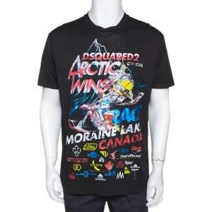 Dsquared2 Black Arctic Twins Print Cool Fit T-Shirt XL
