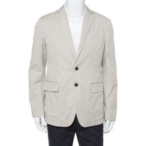 Dsquared2 Capri Beige Cotton Button Front Jacket XL