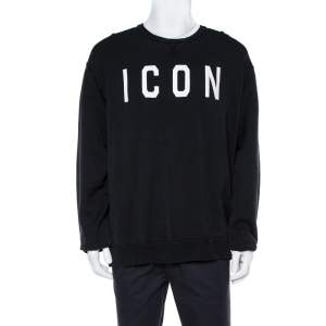 Dsquared2 Black Icon Print Cotton Cool Fit Sweatshirt XXL