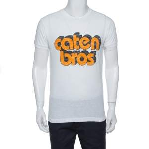 Dsquared2 White Caten Bros Print Cotton Chic Dan Fit T-Shirt M