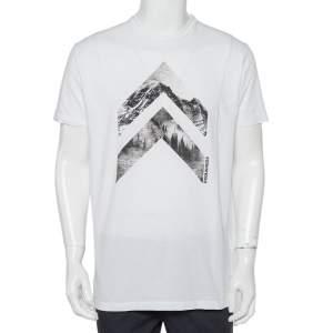Dsquared2 White Printed Cotton Crewneck T-Shirt XL