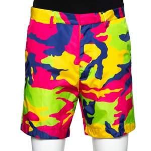 Dsquared2 Multicolor Neon Camo Printed Shorts L