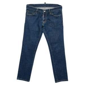 Dsquared2 Navy Blue Denim Tapered Leg Jeans L