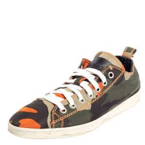 Dsquared Camouflage Fabric Low Top Sneakers Size 43