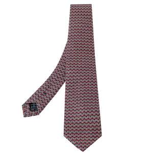 Dunhill Multicolor Printed Mulberry Silk Classic Tie