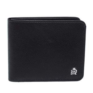 Dunhill Dark Grey Leather Bourdon Bifold Wallet