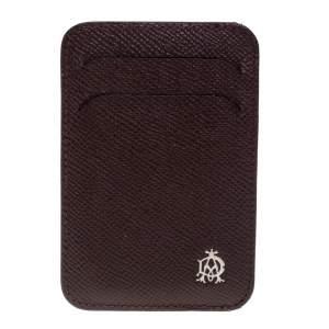 Dunhill Burgundy Leather Card Holder