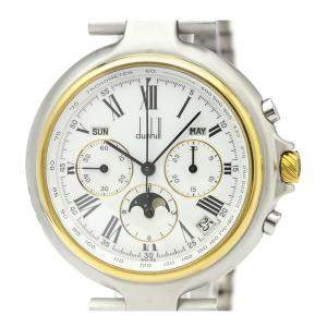 Dunhill White 18K Yellow Gold and Stainless Steel Millenium Chronnograph Men's Wristwatch 40MM