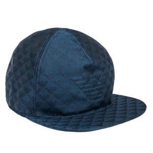 Emporio Armani Blue Logo Pattern Baseball Cap L