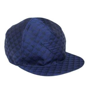 Emporio Armani Royal Blue Logo Pattern Baseball Cap M