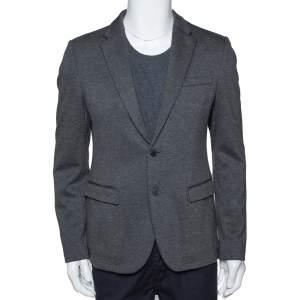 Emporio Armani Grey Johny Line Two Buttoned Blazer L