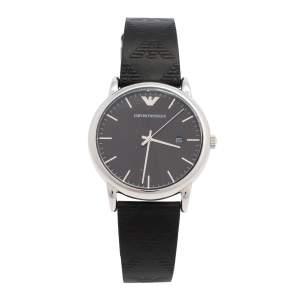 ساعة يد وسوار رجالي امبوريو أرماني AR80012 ستانلس ستيل أسود سيت 43 مم