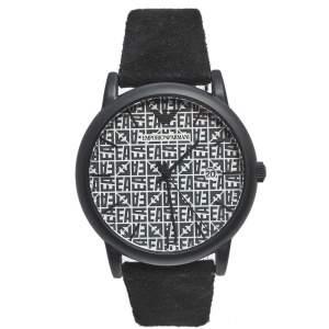 ساعة يد رجالية أمبوريو أرماني أيه أر11274 جلد ستانلس ستيل مطلي بي في دي أسود رمادي 43 مم