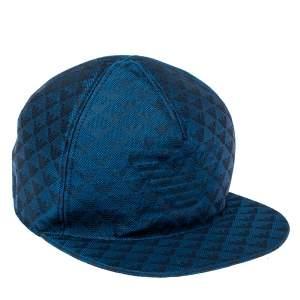 Emporio Armani Blue Monogram Pattern Baseball Cap S