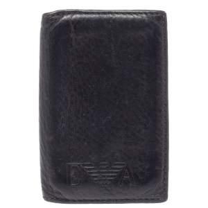 Emporio Armani Dark Brown Leather Card Holder
