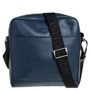 حقيبة ماسنجر أمبوريو أرماني جلد أزرق