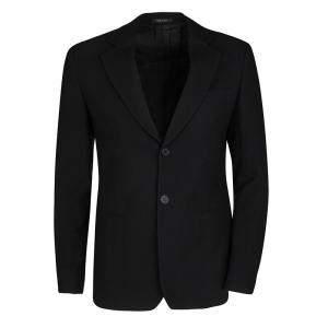 "Emporio Armani Black Wool Chevron Pattern Mr. ""A"" Line Blazer S"