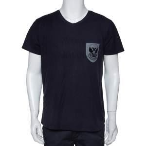 Emporio Armani Navy Blue Cotton Jude Sexy Fit T-Shirt XXL